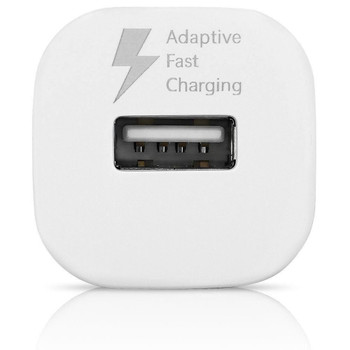 Genuine Samsung Adaptive Fast Charging Single Port Fast Car Charger (EP-LN915U) for Samsung Galaxy A3, A5 and A7 (2017) - White (Bulk, Frustration Free Packaging)