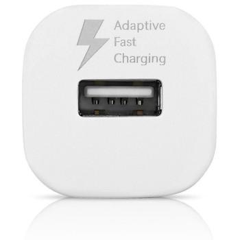 Genuine Samsung Adaptive Fast Charging Single Port Fast Car Charger (EP-LN915U) for Samsung Galaxy J1, J2, J3 (2017), J5, J7 (2017) - White (Bulk, Frustration Free Packaging)