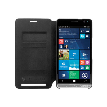 Genuine HP Wallet Folio Leather Case Cover for HP Elite x3 - Black (V8Z61AA)