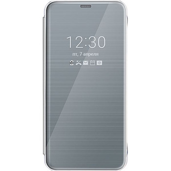 Genuine Official LG G6 Quick Cover Clear View Flip Case Cover Wallet - Platinum Silver (CFV-300)