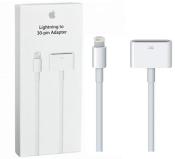 Genuine Official Apple MD824ZM/A Lightning To 30-Pin Adapter 0.2m - Retail Packed