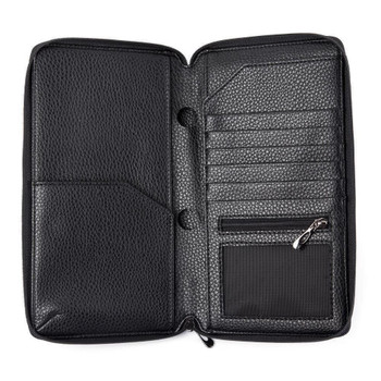 InventCase PU Leather RFID Blocking Passport / ID Card / Money Wallet Organiser Holder Case Cover for Czech Republic Passports - Black