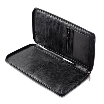 InventCase PU Leather RFID Blocking Passport / ID Card / Money Wallet Organiser Holder Case Cover for Belgian / Belgium Passports - Black