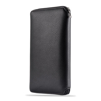 InventCase PU Leather RFID Blocking Passport / ID Card / Money Wallet Organiser Holder Case Cover for Denmark / Danish Passports - Black
