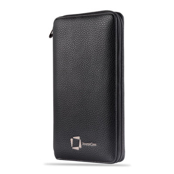 InventCase PU Leather RFID Blocking Passport / ID Card / Money Wallet Organiser Holder Case Cover for Hong Kong Passports - Black