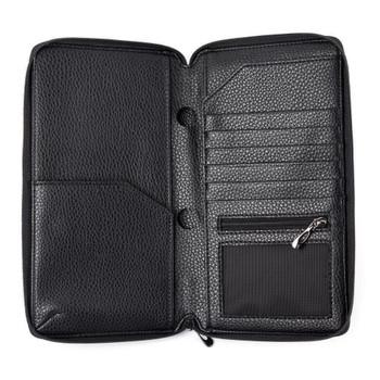 InventCase PU Leather RFID Blocking Passport / ID Card / Money Wallet Organiser Holder Case Cover for Singaporean Passports - Black