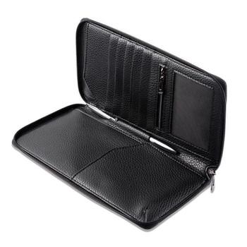 InventCase PU Leather RFID Blocking Passport / ID Card / Money Wallet Organiser Holder Case Cover for Slovakia / Slovak Passports - Black