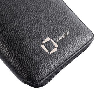 InventCase PU Leather RFID Blocking Passport / ID Card / Money Wallet Organiser Holder Case Cover for Taiwan Passports - Black