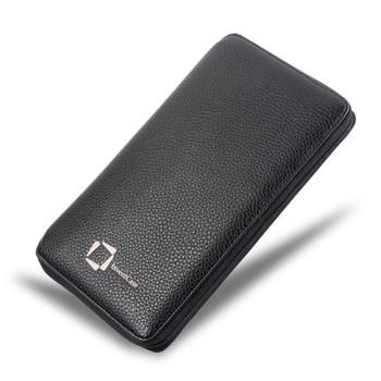 InventCase PU Leather RFID Blocking Passport / ID Card / Money Wallet Organiser Holder Case Cover for Finnish / Finland Passports - Black