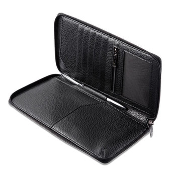 InventCase PU Leather RFID Blocking Passport / ID Card / Money Wallet Organiser Holder Case Cover for India / Indian Passports - Black