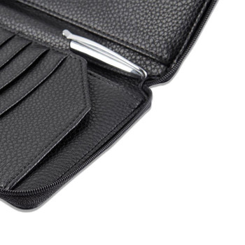InventCase PU Leather RFID Blocking Passport / ID Card / Money Wallet Organiser Holder Case Cover for Japan / Japanese Passports - Black