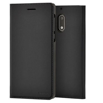 Genuine Official Nokia CP-302 Leather Flip Case Cover Wallet for Nokia 5 2017 - Black