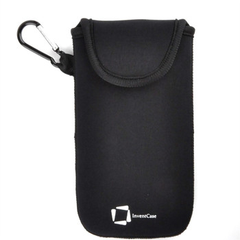 InventCase Neoprene Impact Resistant Protective Pouch Case Cover Bag with Velcro Closure and Aluminium Carabiner for Xiaomi Mi Note 2 - Black