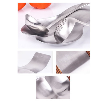 SSLD Polished Satin Finish Stainless Steel Kitchen Worktop Twin Double Spoon Utensil Rest Holder
