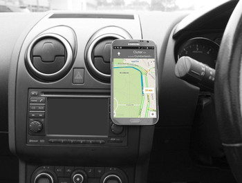 Kit Universal In-Car Magnetic Smartphone Holder Compatible with Sat Nav Apps and Bluetooth Hands-Free Devices - Black