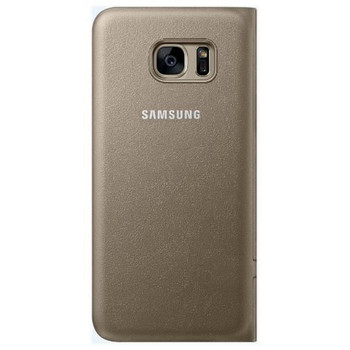 Genuine Samsung Galaxy S7 edge LED Display Flip View Case Cover - Gold  (EF-NG935PFEGWW) - Bulk Packed / Retail Packaging Missing