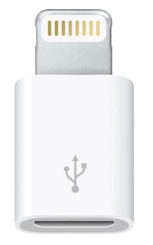Apple Lightning Connector to Micro USB - MD820ZM/A Micro USB Adapter (Bulk, Frustration Free Packaging)