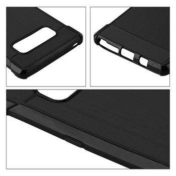 InventCase Premium Carbon Fibre Brushed TPU Gel Case Cover Skin for the Samsung Galaxy Note8 / Note 8 - Black