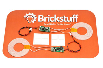 "Brickstuff 44mm Coil Wireless Power Transmitter/Receiver Pair (0-15mm/0-0.6"" Range) - SEED09"
