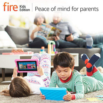 """New Amazon Fire Kids Edition Tablet, 7"""" Display, Wi-Fi, 16 GB - With Pink Kid-Proof Case"""