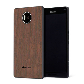 Genuine Mozo Qi Wireless Charging Back Cover Case with NFC for Microsoft Lumia 950 XL - Black / Walnut - 950XLBBWWN