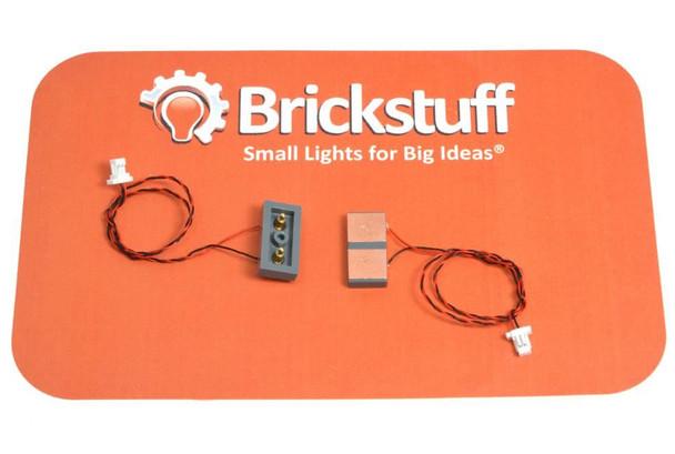 Brickstuff Vertical Power Connectors (2-Pin) - 3 Sets - BRANCH-2PINV-3PK
