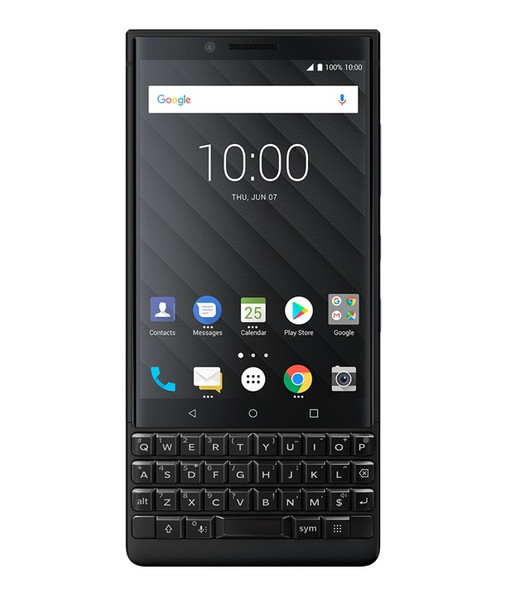 BlackBerry KEY2 Unlocked Single SIM Free Smartphone - Black - 64GB
