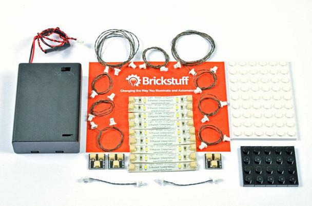Brickstuff Warm White LED Light Strip Starter Kit for LEGO Models - TREE01