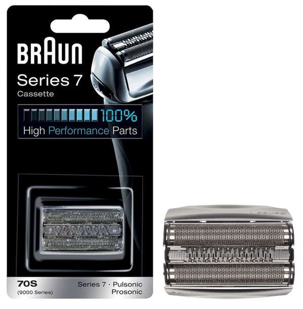 Braun 70S Series 7 Electric Shaver Replacement Cassette Cartridge Foil - Silver