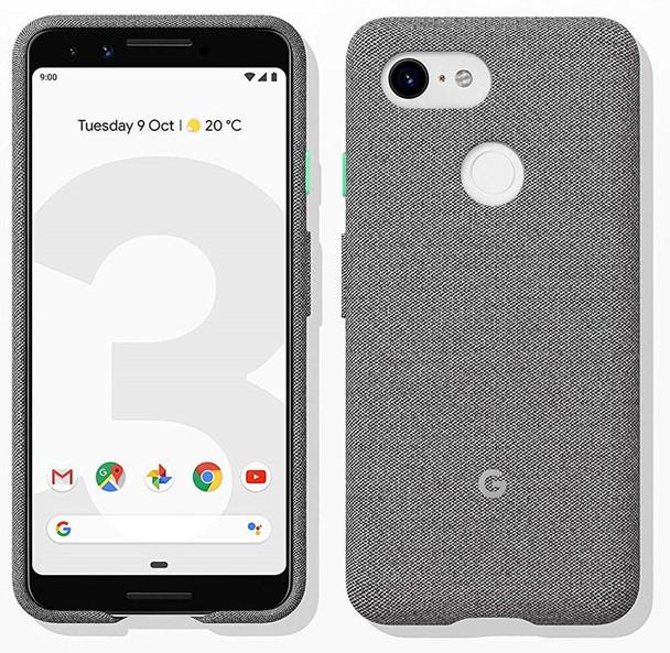 Official Google Pixel 3 Fabric Case Cover - Fog (GA00490)