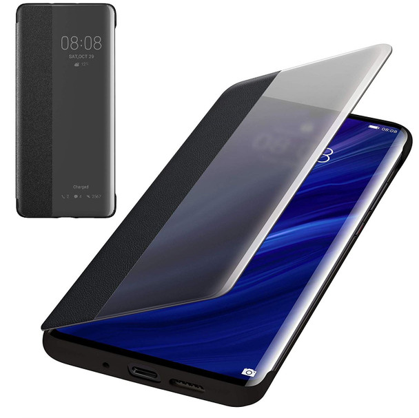 Genuine Official Huawei P30 Pro Smart View Flip Cover - Black (51992882)