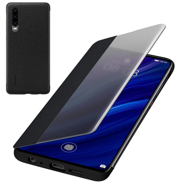 Genuine Official Huawei P30 Smart View Flip Cover - Black (51992860)