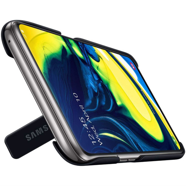 Official Samsung Galaxy A80 Standing Cover Case - Black - EF-PA805CBEGWW