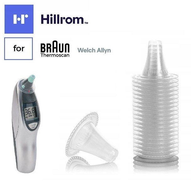 Official Hillrom Welch Allyn Braun Ear Thermometer Probe Covers for Braun ThermoScan PRO 4000