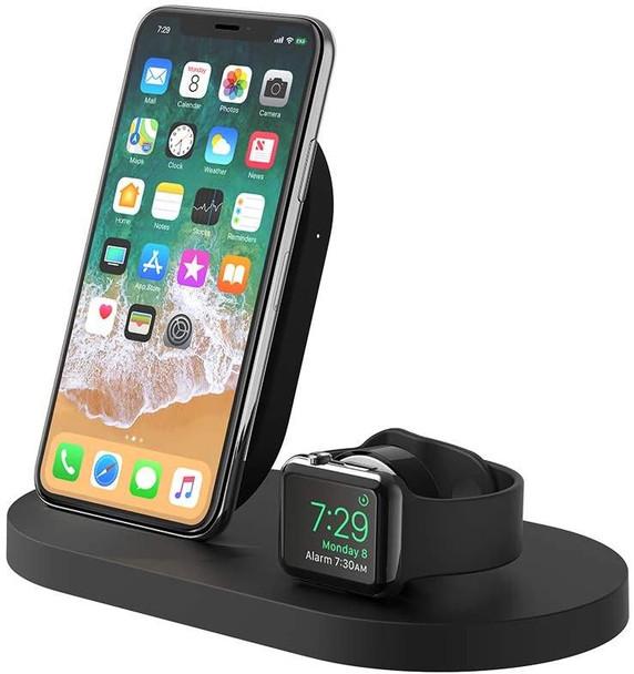Belkin Boost Up Wireless Charging Dock for iPhone + Apple Watch + USB-A Port - Black