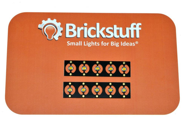 Brickstuff 10 Warm White Pico LEDs on Panel - LEAF01-PWW-10PK-DIY