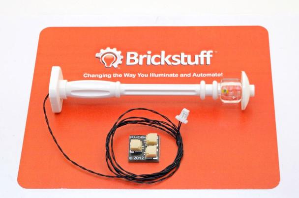 Brickstuff White Street Lamp Post with Warm White Pico LED - LEAF01-SLAMPW
