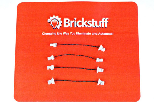 """Brickstuff 1.5"""" Extension Cables for the Brickstuff LEGOLighting System (4-Pack) - GROW01.5"""