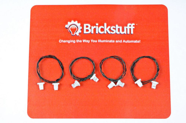 "Brickstuff 6"" Extension Cables for the Brickstuff LEGOLighting System (4-Pack) - GROW06"