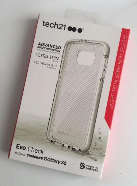 Genuine Tech21 Evo Check Case Cover for Samsung Galaxy S6 (T21-4427) - Transparent