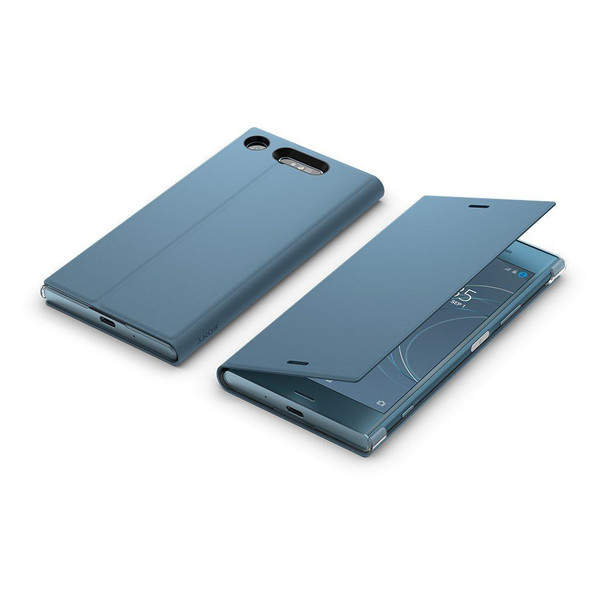 Genuine Official Sony SCSG50 Style Cover Stand Case for Sony Xperia XZ1 - Blue