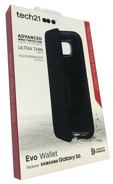 Genuine Official Tech21 Evo Wallet Case for Samsung Galaxy S6 - Black