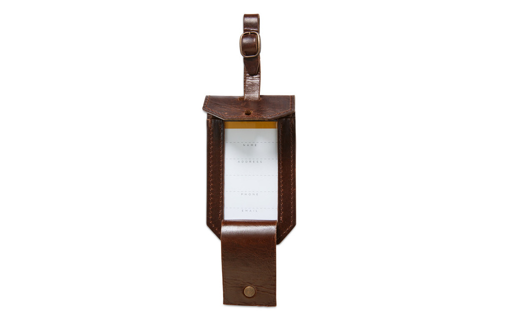 KOHLER OF KOHLER LEATHER LUGGAGE TAG