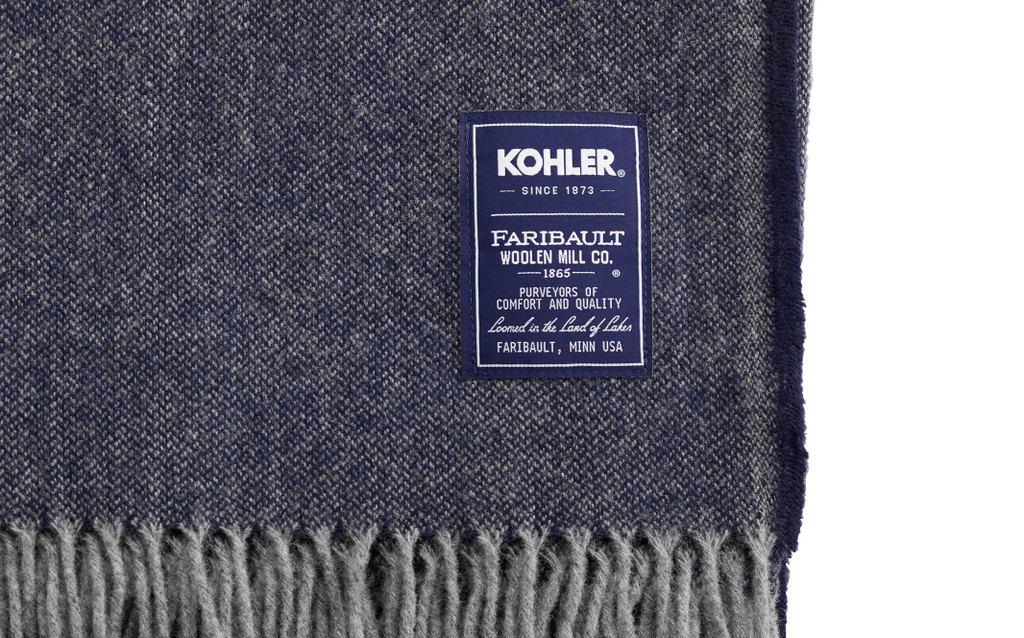 FARIBAULT WOOLEN MILL CO.® ASHBY TWILL WOOL THROW. 2 COLOR OPTIONS