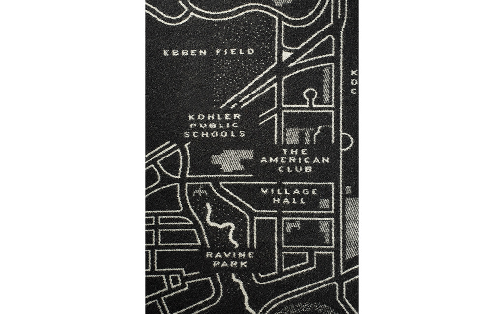 VILLAGE OF KOHLER MAP WOOL THROW