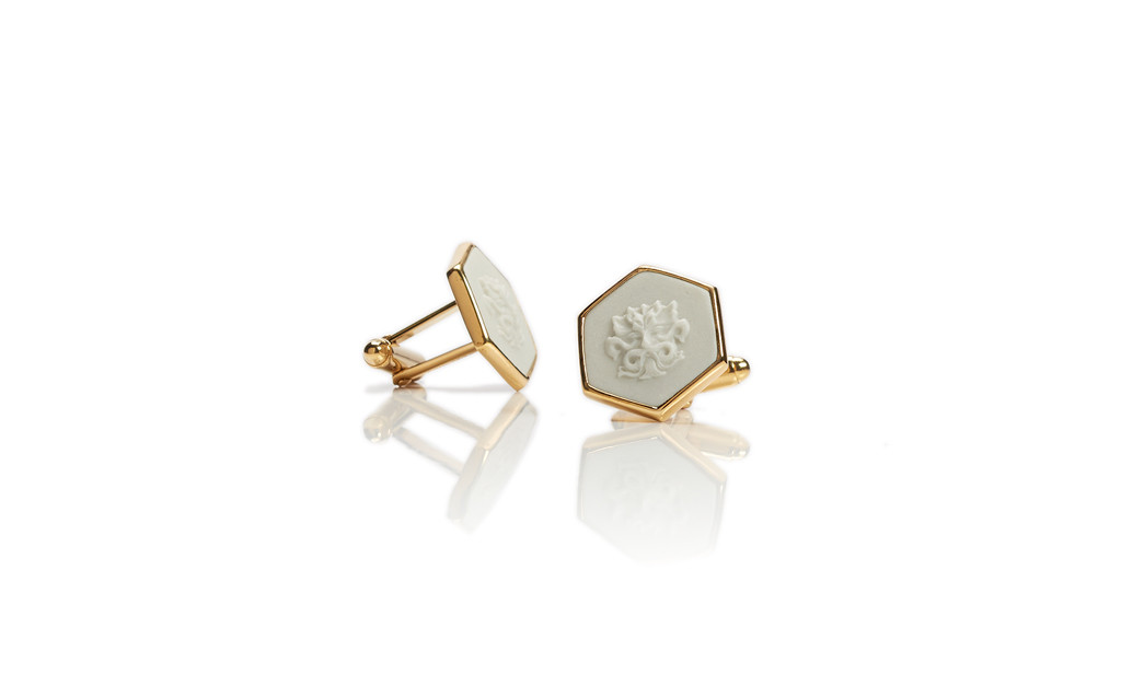 WEDGWOOD CUFF LINKS, WHISTLING STRAITS LOGO EXCLUSIVELY