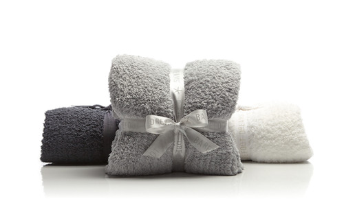 BAREFOOT DREAMS COZY CHIC RIBBED THROW. 3 COLOR OPTIONS.