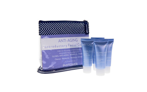 ANTI-AGING INTRODUCTORY FACIAL CARE KIT: DOUX VISAGE, VEGETAL EXFOLIANT, EXPERT YOUTH, NIGHT RECHARGE