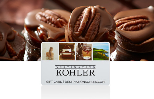 DESTINATION KOHLER GIFT CARD AND KOHLER ORIGINAL RECIPE CHOCOLATES