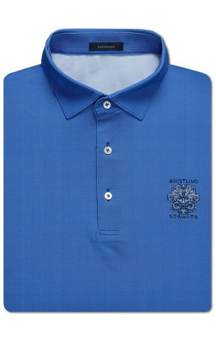 MEN'S BALDWIN CHECK PERFORMANCE POLO, WHISTLING STRAITS LOGO EXCLUSIVEY